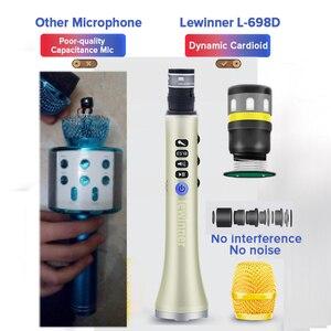 Image 4 - Lewinner L 698D professional 20W portable wireless Carpool Bluetooth karaoke microphone speaker with big power for Sing/Meeting