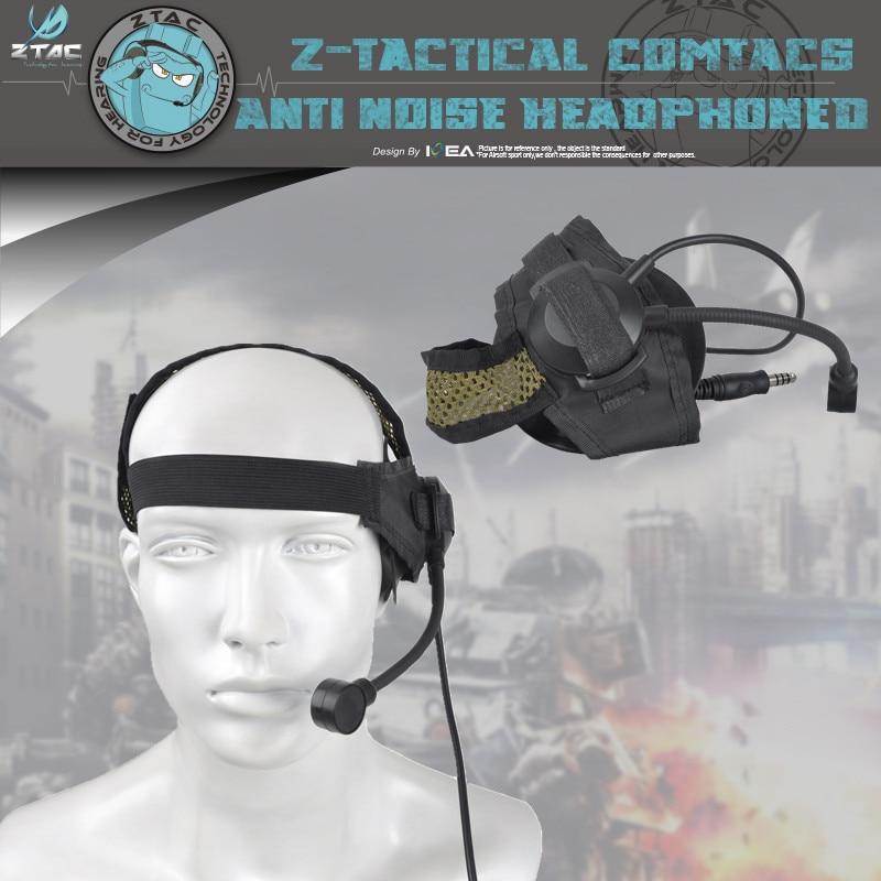 Z-TAC  Headset PTT Z028 Selex TASC1 Headset With U94 PTT Tactical Headphones Walkie Talkie Headset