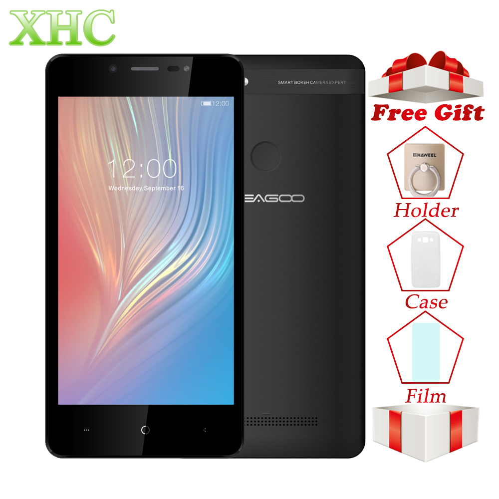 LEAGOO de 2 5,0 pulgadas Android 8,1 teléfono móvil MT6580A Quad Core 8MP Dual SIM 2 GB 16 Gb de huellas dactilares Dual SIM WCDMA 3G Smartphone