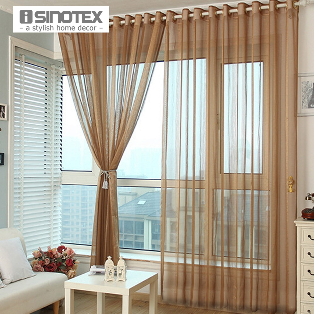 ISINOTEX Window Curtain Solid Transparent Sheer Screening
