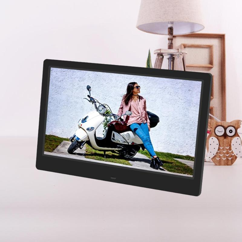 VODOOL 1366X768 12.5 inch TFT-LCD Screen Digital Photo Frame Electronic Photo Frame Alarm Clock MP3 MP4 Music Video Player digital video player 7inch hd lcd digital photo frame with alarm clock slideshow mp4 player bk media player with screen tw