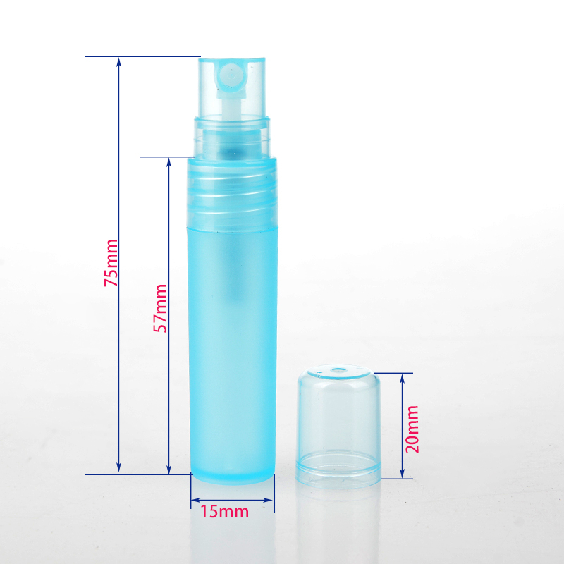 (5Pieces/Lot) 5ML Portable Plastic Perfume Bottle With Spray Empty Cosmetic Case With Colorful  For Travel