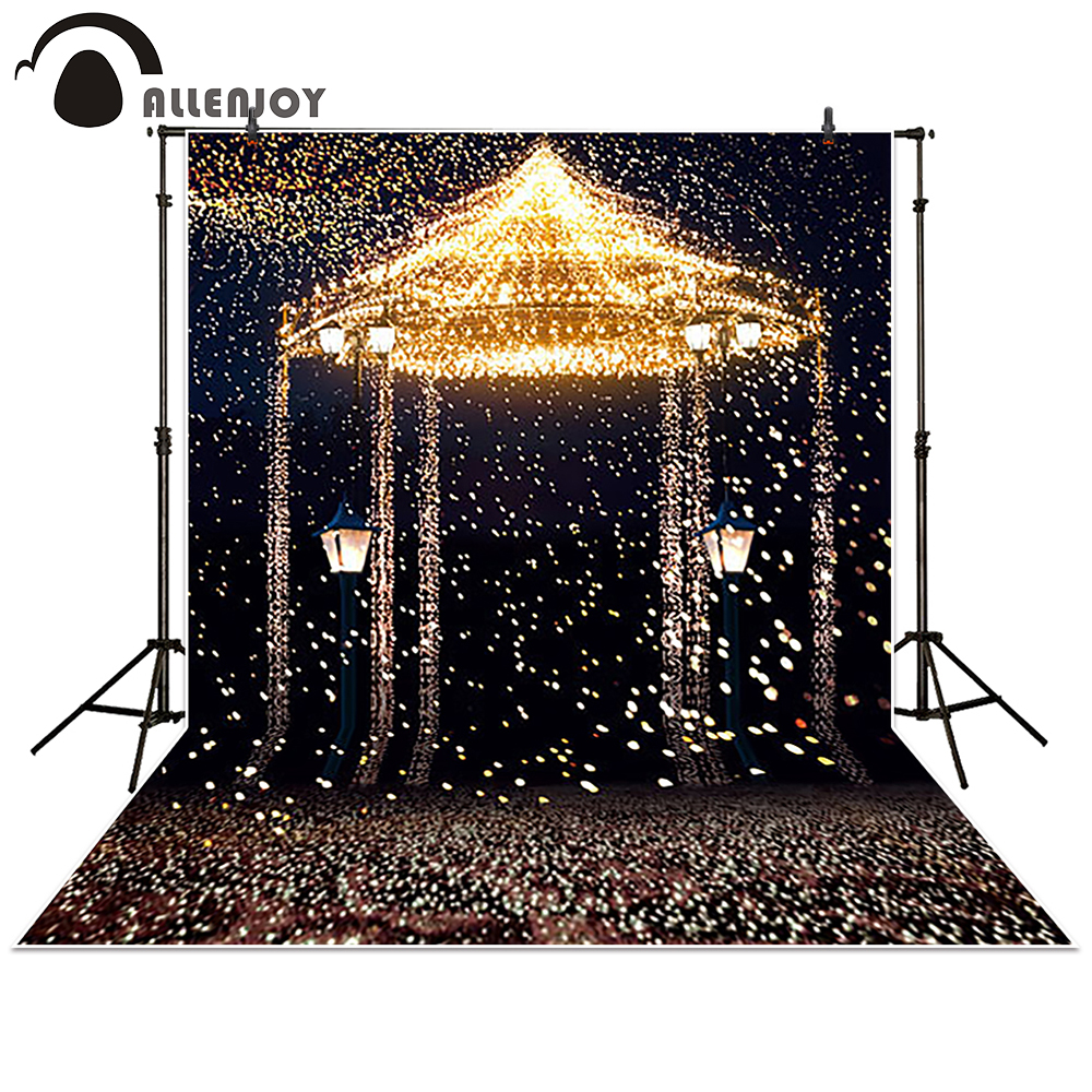 Allenjoy Photography Backdrop Star Highlights romantic aesthetic fireworks castle background photocall photobooth Photo studio allenjoy diy wedding photography background romantic love wood board custom name date phrase backdrop photocall