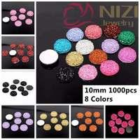 Round Rhinestone Beads 10mm 1000pcs Fashion Cabochon Beads Resin Flatback Rhinestones Jewelry Garment Phone Case Accessories