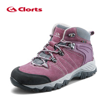 Clorts Winter Sneakers Women Waterproof Hiking Shoes Woman Outdoor Sport Shoes H