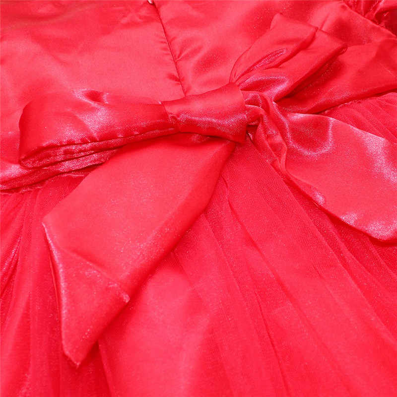 8bfd41cb643b6 Toddler Baby Girl Dress Christmas Red Petals Dress Costumes Princess  Dresses 1 Year Birthday Gift Kids Party Wear Dresses