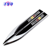 Car Side Fender Stickers Auto Modified Blade Shape Metal Badge Emblem Decals For Ralliart Logo For