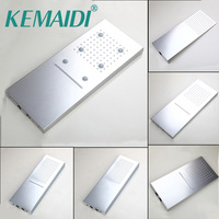 KEMAIDI Good Quality Rainfall Square Shower Head Bathroom Shower Set Wall Mounted Basin Overhead LED Light