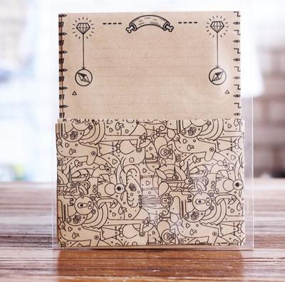 12pcs/Set 4 Envelops + 8 Writting Paper Maze Type Envelopes Sobres Papel Letter Paper Set Stationery Gift