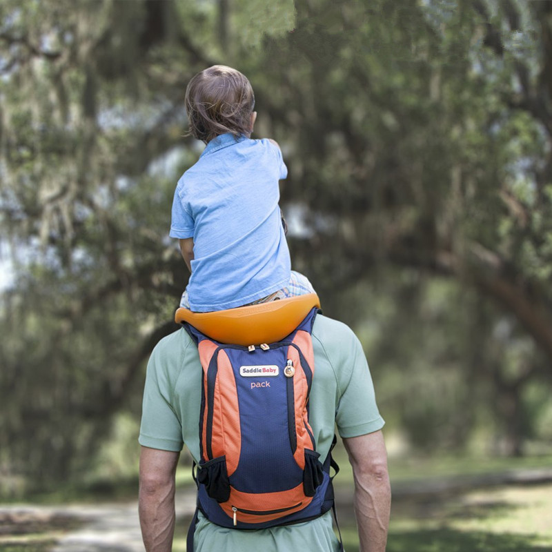 Portable Baby Travel Carrier Baby Toddlr Hiking Backpack Outdoor Hands-Free Shoulder Carriers Strap Mountaineering Frame Chair