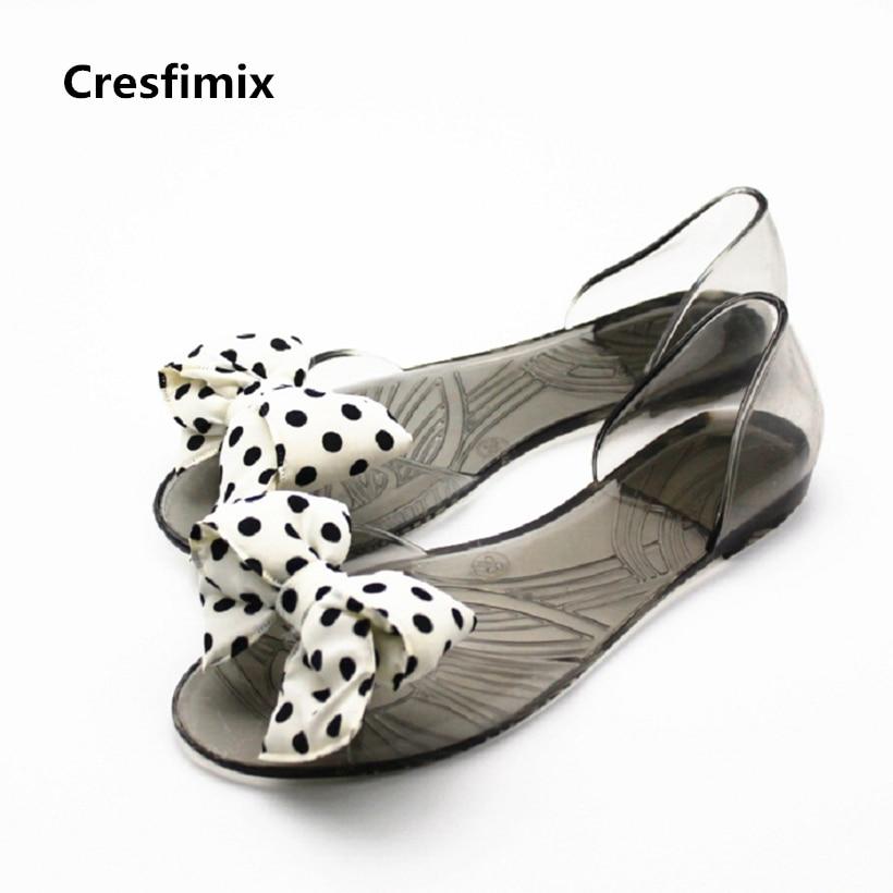 Cresfimix sandalias de mujer women soft comfortable slip on sandals lady cute transparent sandals lady sexy flower slippers cresfimix zapatos de mujer women cute soft