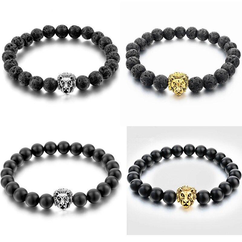 JeYfrly Adjustable Natural Lava Rock Stone Beads Women