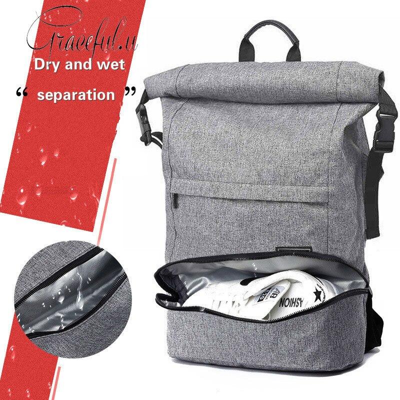 Sac de voyage haute capacité sac de sport hommes femmes sac à dos étanche résistant à l'usure Anti-vol antichoc sec-humide séparation