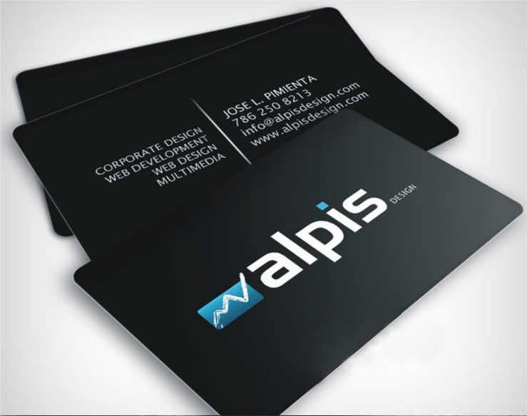 Full Colour Plastic Pvc Business Cards