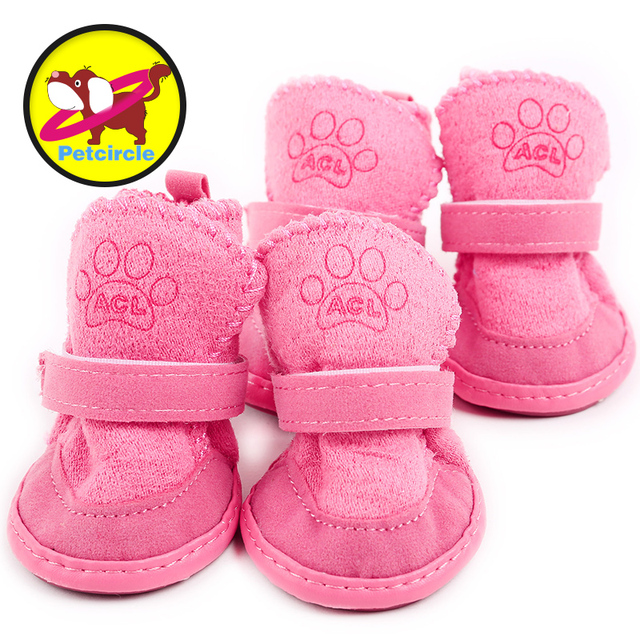 petcircle New Fancy Dress up Pet Dog Chihuahua Boots Puppy Shoes For Small Dog Size XXS-L Lambs wool dog shoes freeshipping