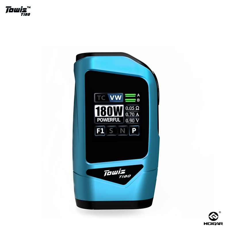 Original Hcigar Towis T180 Touch Screen Mod Box with XT180 Chipset Output 5-180 W TFT Color Screen E-cigarette Mod Fit RDA 510