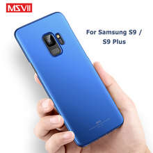 MSVII Cases For Samsung Galaxy S9 Plus Case Slim Frosted Coque Hard PC Cover S 9