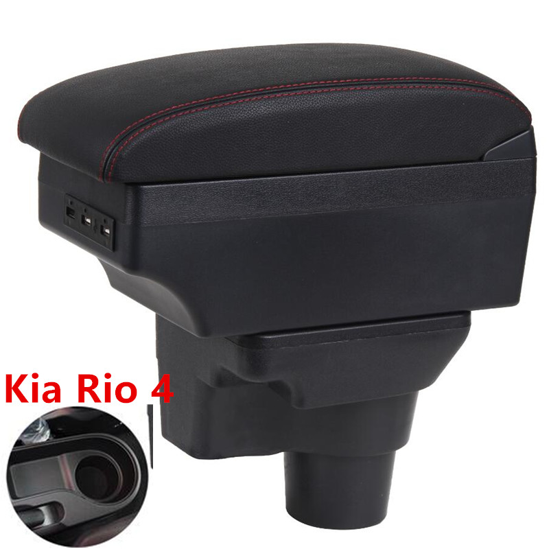 For 2017 KIA Rio 4 Armrest Box Central Store Content Box Car-styling Decoration Accessory Part