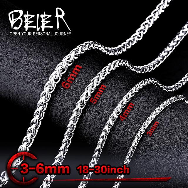 Beier 316L Stainless Steel Spiga Chain