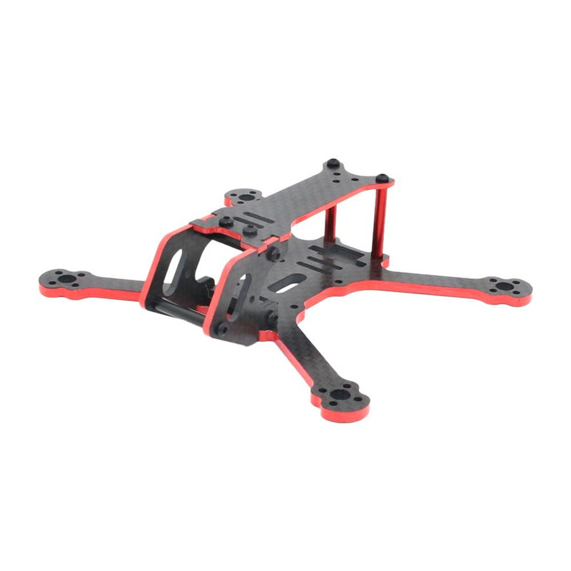 SPC MAKER C120 120mm Wheelbase 3mm Arm Carbon Fiber FPV Racing Drone Frame Kit For RC Models DIY Multicopter Spare Part Accs nidici kun h5 227mm wheelbase 5mm arm 3k carbon fiber 5 inch fpv racing frame kit for rc drone multirotor diy spare parts accs