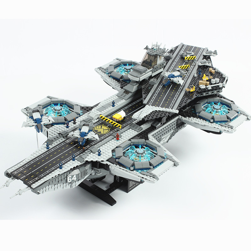 Image 2 - Super Movies Series The SHIELD Helicarrier Building Blocks 2996PCS  Compatible with 76042 lepins 07043 Toys BricksBlocks   -
