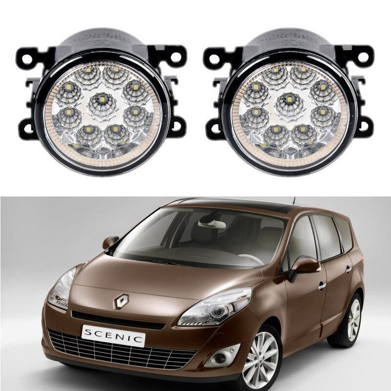 Car-Styling For Renault GRAND SCENIC III JZ0 JZ1 2009-2016 9-Pieces Led Fog Lights H11 H8 12V 55W Fog Head Lamp куплю тормозные колодки на renault scenic rx4