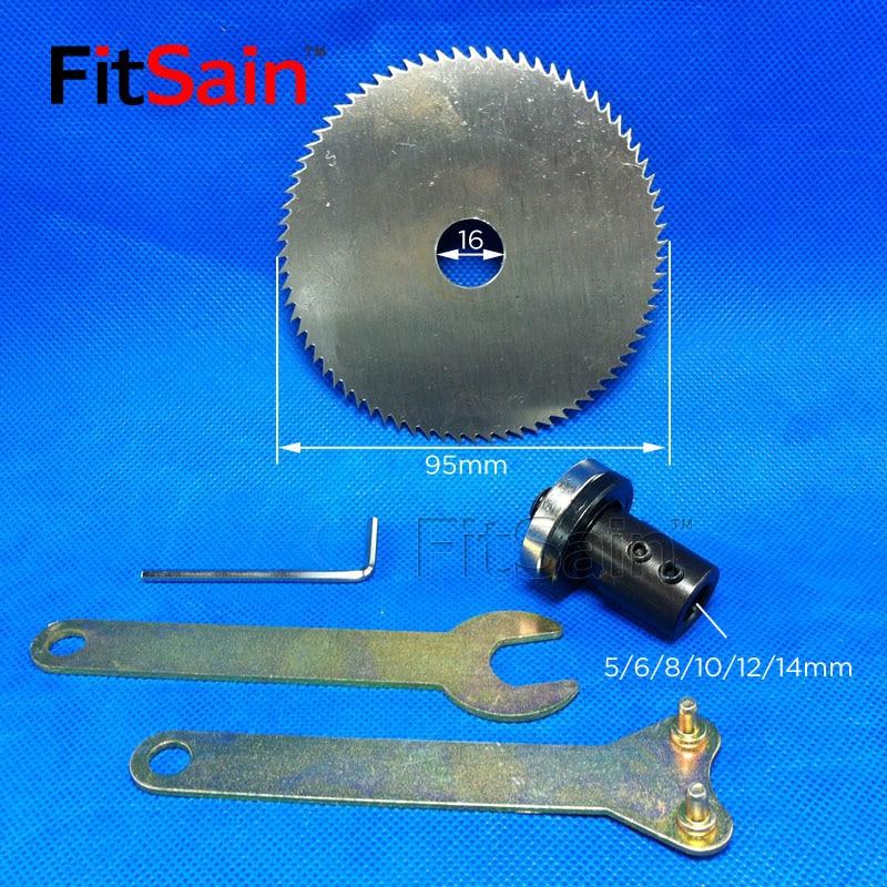 """FitSain-mini"" stalo pjūklas 4 ""95 mm pjūklo pjovimo disko medienos pjovimo diskas Adapteris Variklio veleno švaistiklis 5mm / 6mm / 8mm / 10mm / 12mm / 14mm"