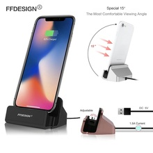 USB Phone Charger for iPhone Dock Station X 5 5s Se 6 6s 7 8 Plus Docking Stand