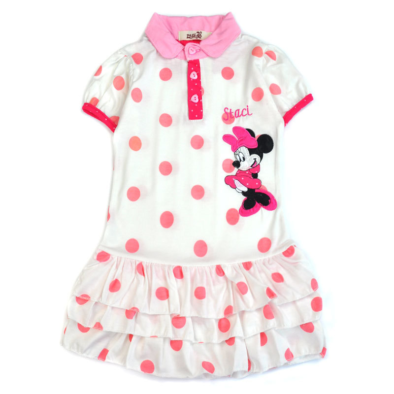 2017 baby Girls Dress Summer Minnie Dress Kids Clothing Children Princess Girl Clothes Polka Dot Cute Cartoon Dress Baby dresses new girls dress brand summer clothes ice cream print costumes sleeveless kids clothing cute children vest dress princess dress