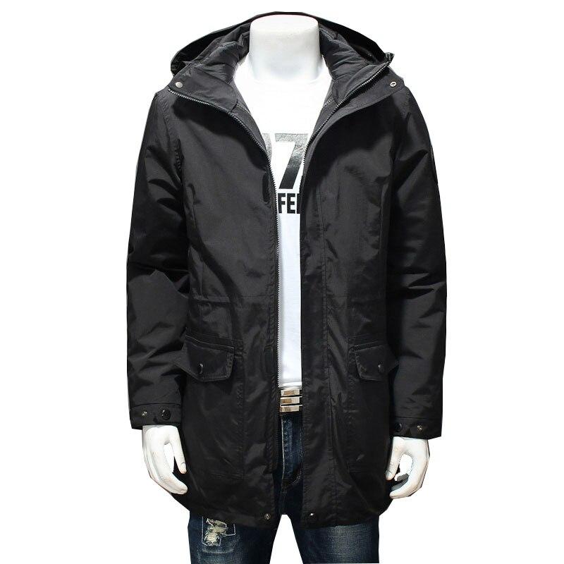 2019 zima męska bawełniana kurtka z kapturem Park męska gruba Super duża luźna, bawełniana kurtka kolor zielony/czarny rozmiar XL-7XL 8XL