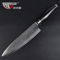 oussirro knife 8Inch set of knives Chef Cutter cuchillo cocina japanese fruit knife damascus steel facas artesanais