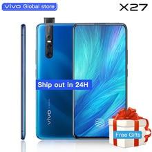 Уполномоченный vivo celular X27 мобильный телефон Snapdragon 710 48.0MP подъемные удивительные Камера 4000 mAh 8 GB + 256 GB мобильного телефона