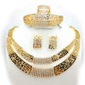 2016 Fashion Women Dubai Gold Plated Jewelry Sets Big Nigerian Wedding African Jewelry Sets african beads jewelry set