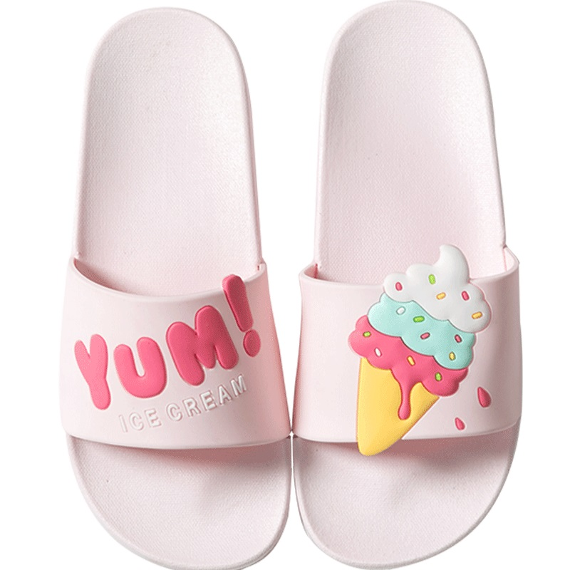 RASS PLE 2019 Women Cute Lovely Bath Slippers Slip On Flats Beach Sandals Flip Flops Ladies Shoes Sliders Shoes Zapatos De Mujer
