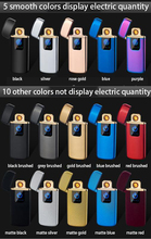 Tungsten Turbo USB Lighter Cigarettes Accessaries For Smoking Ciga Electronic Free Laser Name 15 Colors Available