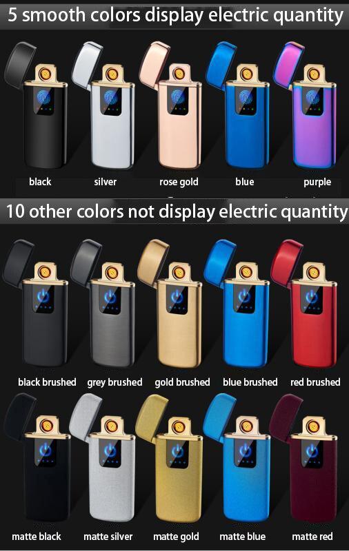 Tungsteno Turbo USB encendedor cigarrillos accesorios para fumar Ciga encendedor electrónico libre láser nombre 15 colores disponibles