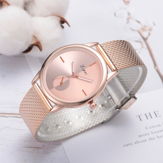 Lvpai Women's Casual Quartz Silicone strap Band Watch Analog Wrist Watch Rose Gold Girls Gold ladies Hot Sale Flowers Dress 3
