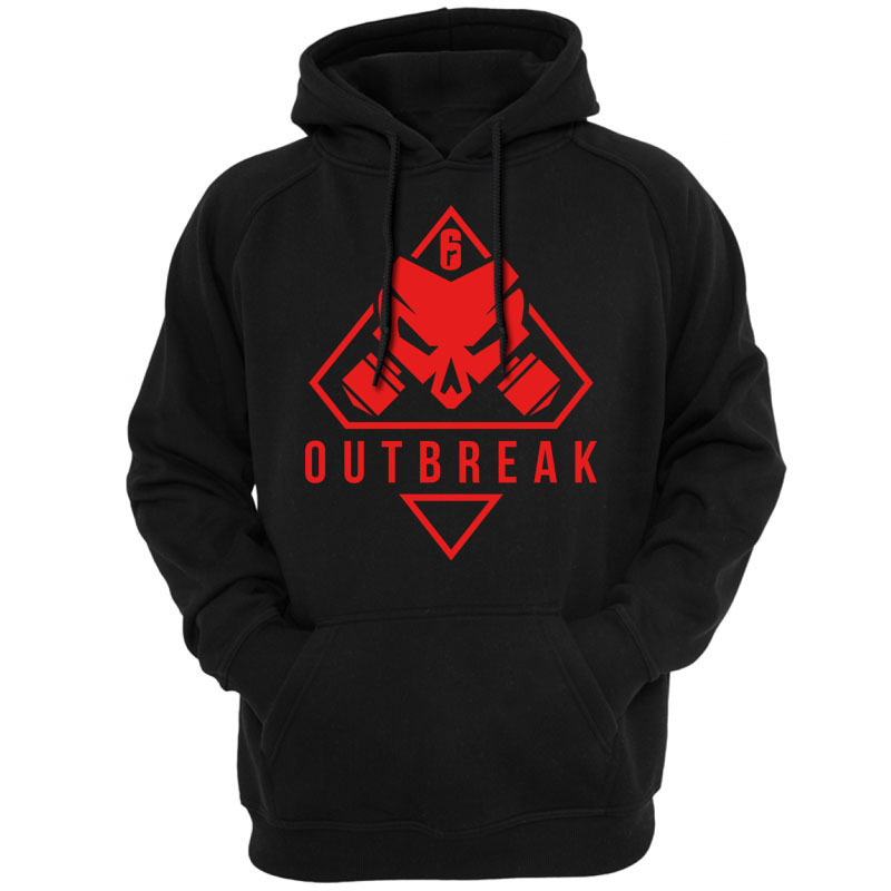 new Rainbow Six Siege Operation Chimera Logo Men Hoodies Sweatshirts Gaming R6 Siege Operation Outbreak Outerwear Hoody Casual
