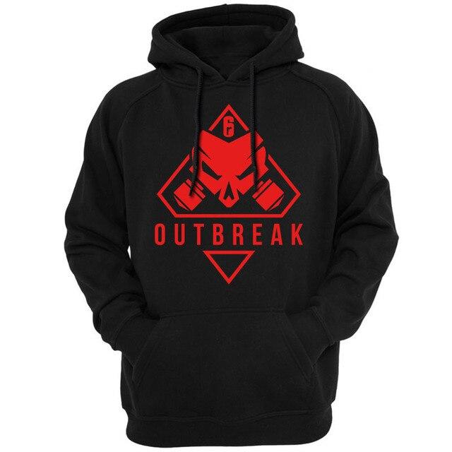 new Rainbow Six Siege Operation Chimera Logo Men Hoodies Sweatshirts Gaming R6 Siege Operation Outbreak Outerwear Hoody Casual