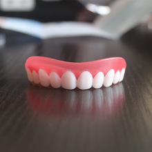 Professional Perfect Smile Veneers Silicone Upper Teeth  Whitening Denture Braces Dental Protectors for Unisex