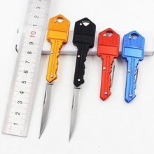 CS COLD Colorful Protable Key Fold Knife Key Pocket Knife Key Chain Peeler Mini Camping Key Ring Knife EDC Tool