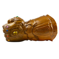 Avengers Infinity War Thanos Infinity Gauntlet Cosplay Gloves PVC Action Figure Model Doll Toys Gift Halloween Accessories