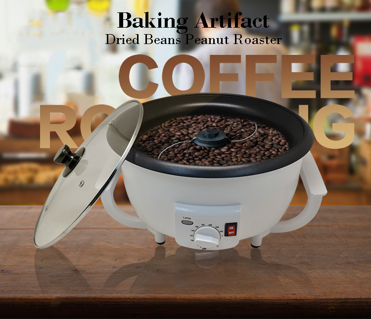 220V Electric Coffee bean Baking Machine Dried fruit / beans Roaster Temperature adjustable dmwd electric coffee roaster coffee bean baking machine dried fruit grain baking tools for household