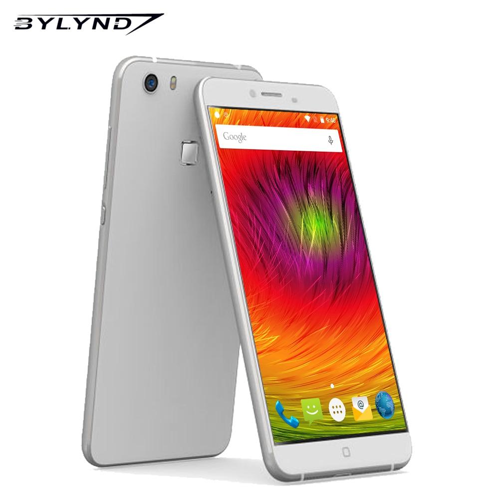 Цена за Оригинал BYLYND M9 Смартфонов MT6753 Окта основные 3 ГБ RAM 32 ГБ ROM 5 + 13 Отпечатков Пальцев 4 Г LTE FDD МП Android 5.5 дюймов IPS Мобильный телефон