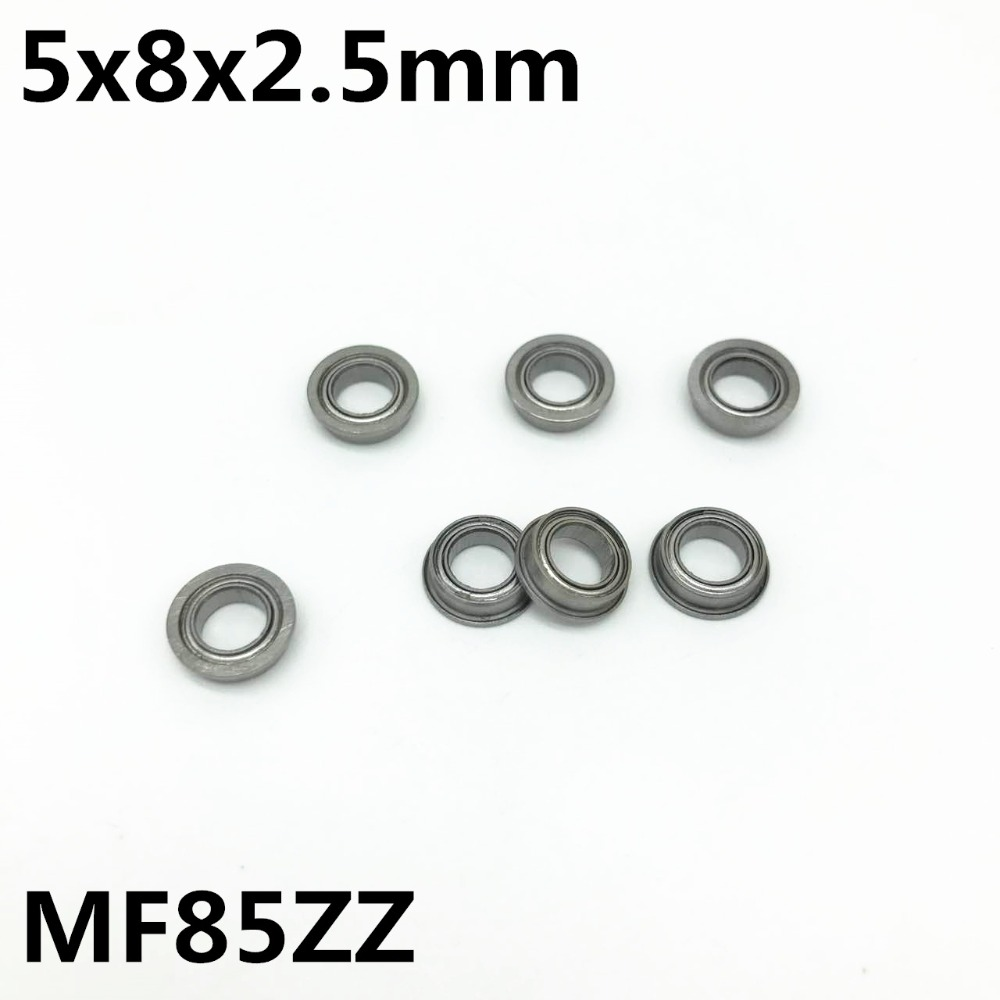 10Pcs MF85ZZ 5x8x2.5 Mm Flange Bearing Deep Groove Ball Bearing High Quality MF85Z MF85