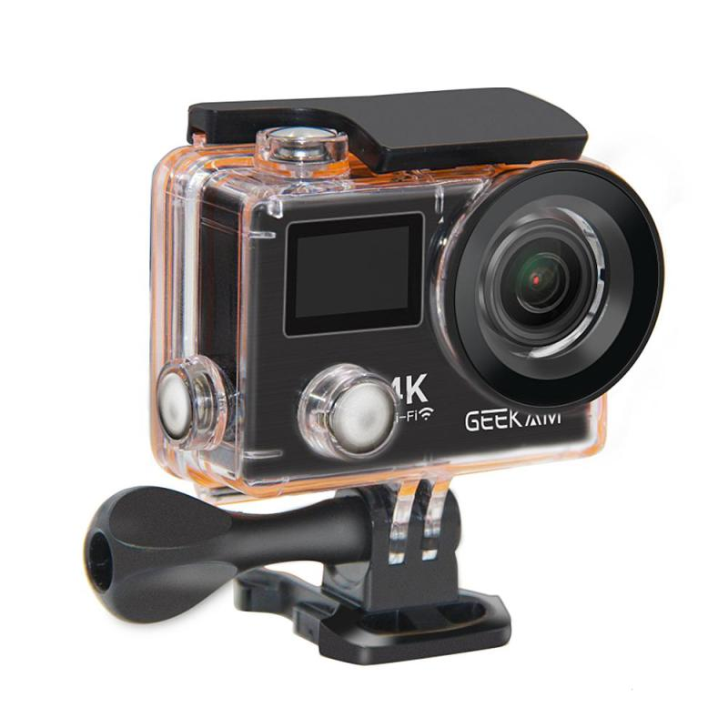 Macchina fotografica di azione 4 k Ultra HD 1080 p 60FPS con Wifi Pro impermeabile mini Bike video Macchina Fotografica di sport Telecamere originale GEEKAM K8R