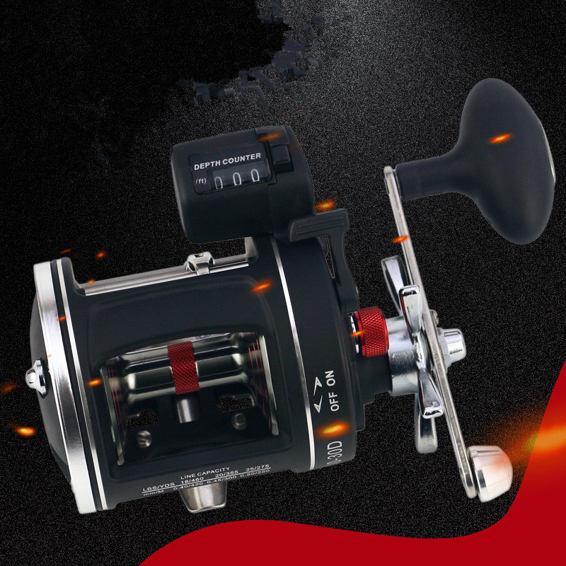 Ocean Fishing Drum Bait Casting Reel ACL Digital Display Depth Count Wheel Smooth Frog Lure Stainless