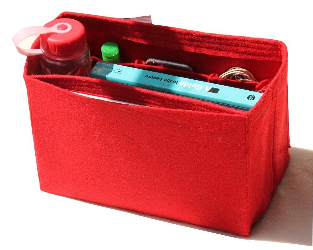 Купить с кэшбэком Customizable Felt Tote Organizer (w/ Milk Water Bottle Holder) Neverfull MM GM PM Speedy 30 25 35 40 Purse Insert Diaper Bag
