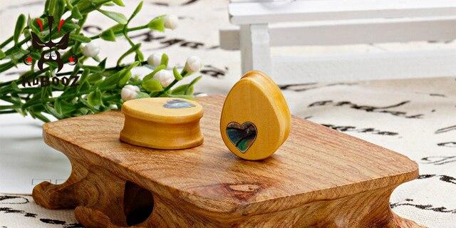 Kubooz 2 шт деревянные беруши пробки для пирсинга тела ювелирные