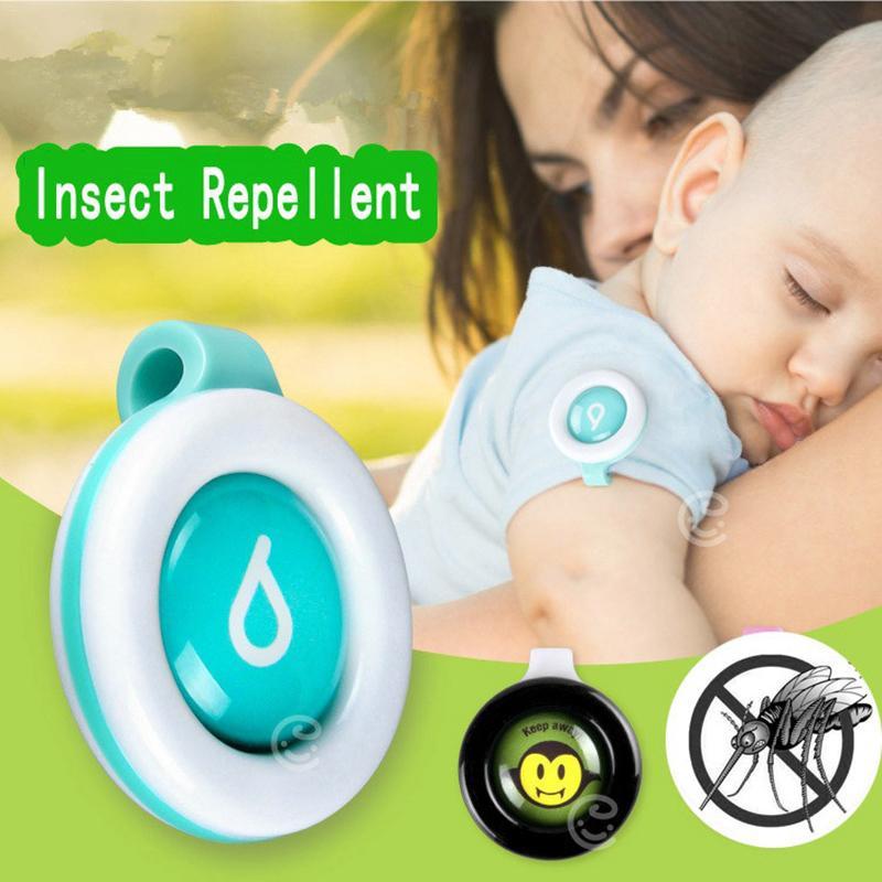 תינוק ילדי עור טיפול נגד יתושים הדברה בטוחה כפתור אבזם Repeller בקרת חרקים חרקים צבע נשלח על ידי אקראי